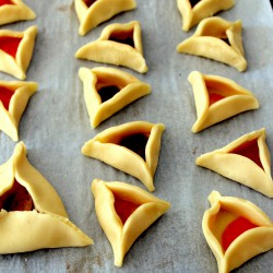 Hamantaschen Pastries with Strawberry and Apricot Recipe