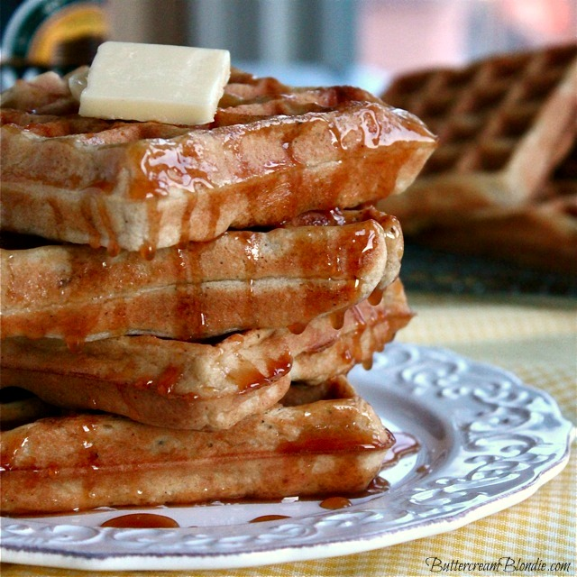 Hard Cider Brown Butter Waffles Recipe