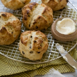 Irish Soda Bread Scones with Salty Whiskey Butter