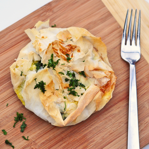 Jamie Oliver's spinach and feta filo pies