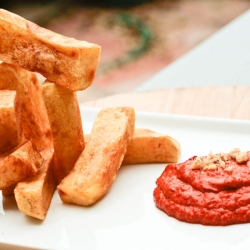 Jumbo Fries with Muhammara