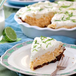 Key Lime Pie in Ginger Biscuit Crust Recipe