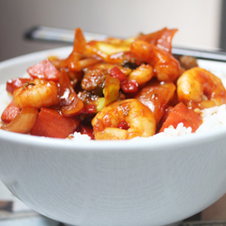 Korean Shrimp Stir-Fry