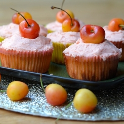 Lemon Cherry Cupcakes
