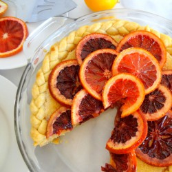 Lemon Chess Pie with Candied Blood Oranges Recipe