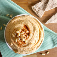 Lemon Pine Nut Hummus Recipe