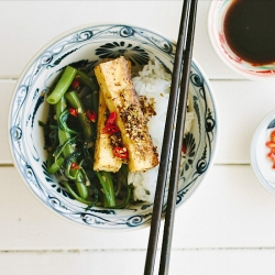 Lemongrass Tofu with Chili Kang Kong Recipe