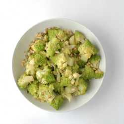 Lemony Romanesco with Pine Nuts Recipe