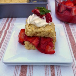 Light Rhubarb Strawberry Shortcake