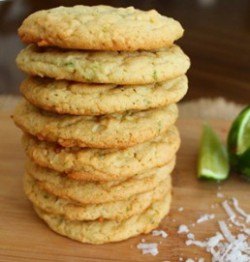 Lime Coconut Cookies