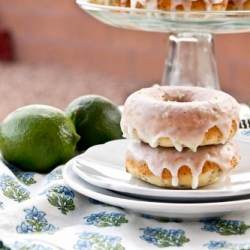 Lime Poppy Seed Doughnuts