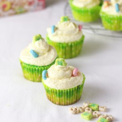 Lucky Charms Vanilla Cupcakes Recipe