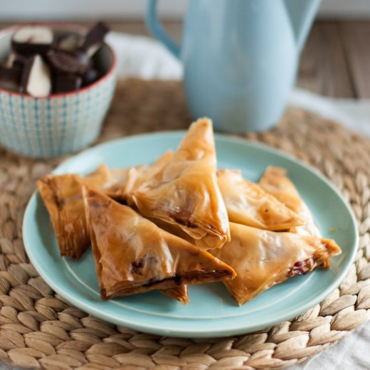 Marzipan and Cherries Filo Pastry