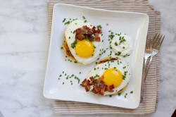 Mashed Potato Pancakes with Fried Eggs and Bacon Recipe