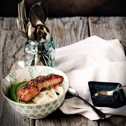 Miso Salmon Brown Rice Bowl Recipe