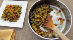 Pan Fried Curried Okra