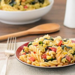 Pasta with Swiss Chard and Corn