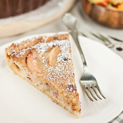 Peach and Hazelnut Tart