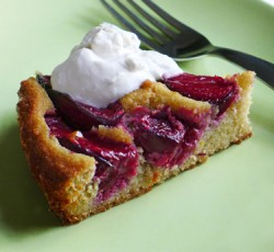 Plum Cake w/ Bourbon Whipped Cream