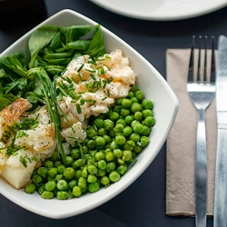 Potatoes, Mayo Eggs and Peas Salad
