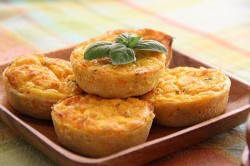 Pumpkin and Cheese Quiches