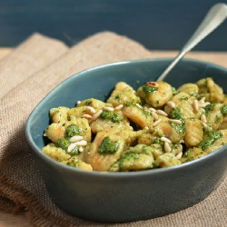 Pumpkin Gnocchi and Coriander Pesto