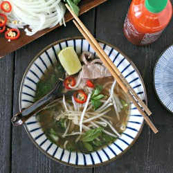 Quick Beef Pho with Greens Paleo