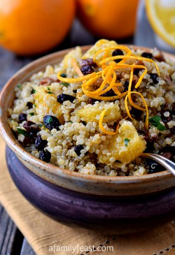 Quinoa Salad with Pecans Orange and Currants Recipe