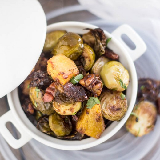Roasted Brussels Sprouts and Acorn Squash Recipe