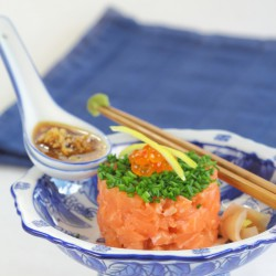 Salmon tartar Japanese inspiration