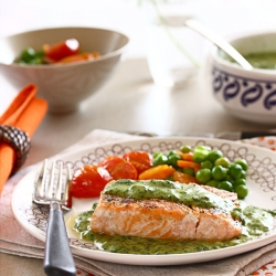 Salmon with Spinach Bechamel