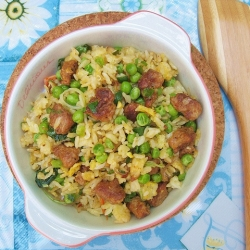 Sausage Peas Egg Fried Rice Recipe