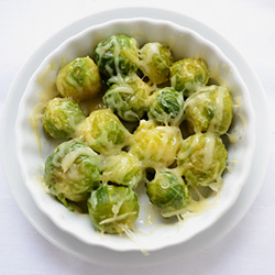 Sauteed Brussels Sprouts with Cheese