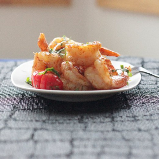 Shrimp with a Butter Sauce