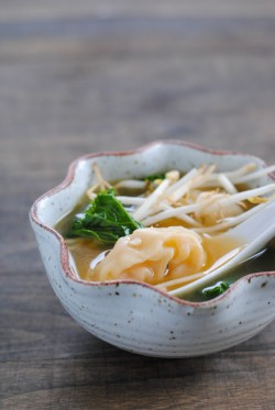 Shrimp Wonton Soup with Kale Recipe