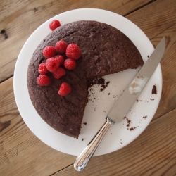 SK's Red Wine Chocolate Cake