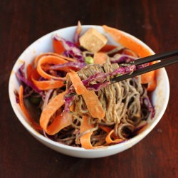 Soba Noodle Bowl with Peanut Sauce