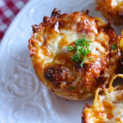 Spaghetti Pie Meal In a Muffin