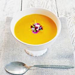 Spiced Carrot Soup with Honey and Cream Recipe