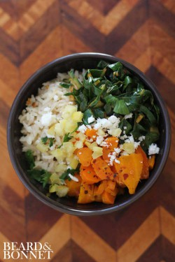 Spicy Harissa Green and Roasted Carrot Rice Bowl Recipe