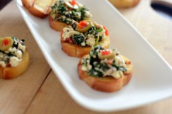 Spinach and Feta Bruschetta Recipe