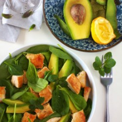 Spinach, Avocado and Chicken Salad