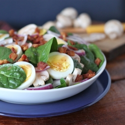 Spinach Salad Hot Bacon Dressing