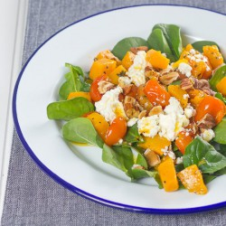 Squash, Feta and Hazelnut Salad