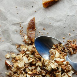 Stove top Amaranth Flaxseed Granola