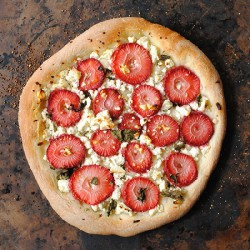 Strawberry and Feta Cheese Pizza