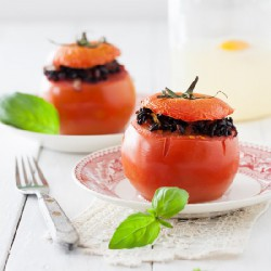Stuffed Tomatoes with Black Rice