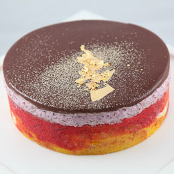 Sweet Cherry Mousse Entremet