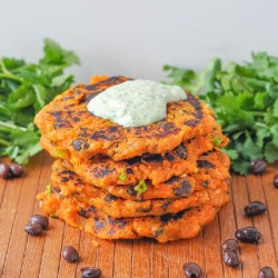 Sweet Potato Cakes with Chimichurri