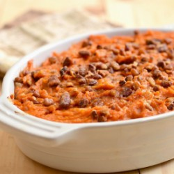 Sweet Potato Rum and Candied Pecans